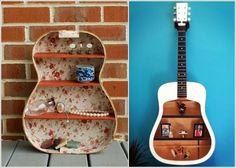 The Real Diseño Inspiración: 5 ideas para reciclar viejos Guitarras y dejarlos Roca Una vez más
