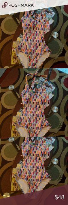 Fendi one piece swimming suit Fendi swimming suit Inspired FENDI Swim One Pieces