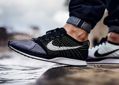 cheap for discount 0b89e 6f7fe Sweetsoles Nike Flyknit Racer Black, Nike Kicks, Yeezy, Sports Footwear,  Men s Sneakers