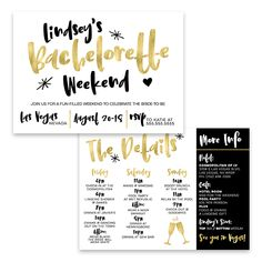 """The Lindsey"" Bachelorette Party Invitation Bachelorette Weekend, Bachelorette Invite, Bridal Shower, Printable, Itinerary, Bachelorette Invites, Weekend Itinerary, Weekend Invitation"