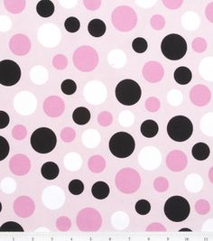 Juvenile Apparel- Pretty Pink Green Dots On Pink : fabric :  Shop | Joann.com