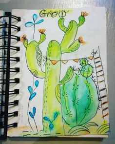 Grow drawriot2017 day19of365 Notebook, The Notebook, Exercise Book, Notebooks