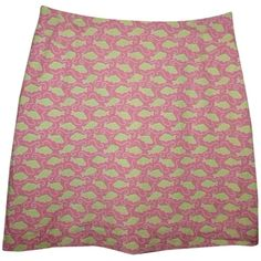Pre-owned Vineyard Vines Womens Short 12 Pink Green Fish Swimming... ($58) ❤ liked on Polyvore