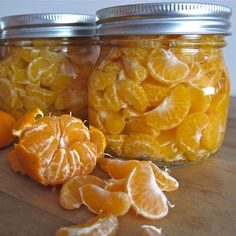 Canning Mandarins - AWESOME!  Might have to try this with my beloved Sumos...and a shout out to pickyourown, my favorite resource for canning.