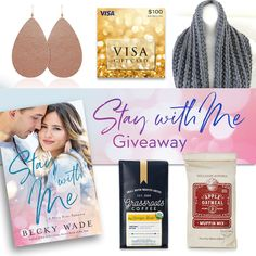 To celebrate the release of Stay with Me, novel #1 in my new Misty River Romance series, my publisher and I have put together this wonderful prize pack! #giveaway #prizepack