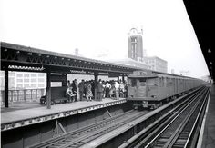 A Triplex at Queensborough Plaza in the 1940's . The North Platforms are still in use