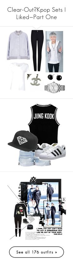 """""""Clear-Out/Kpop Sets I Liked—Part One"""" by jellygirls ❤ liked on Polyvore featuring Armani Jeans, Max 'n Chester, Calvin Klein, Frame, adidas Originals, bts, Universal Lighting and Decor, Dot & Bo, WALL and New Look"""