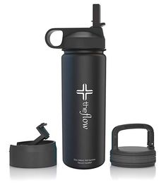 Copper Vacuum Insulated 18//8 Stainless Steel Thermal Travel Bottle with Capture Carry Loop Lid 25oz Matte Black