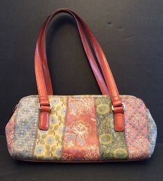 Longchamp Handbag Purse Transparent Floral Pansy Leather Strap ...