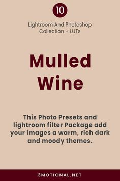 10 Mulled Wine Photo Presets pack is perfect for your Christmas & winter photo. This Photography filters add a rich, dark, moody, and soft look to your photos that is the Best Choice for Instagram Blogger, Lifestyle Influencers, festive Photography, luxury Holiday, Christmas, winter, children & family, home blogging, and interior decor photos. #LightroomPresets #MobilePresets #PhotoshopPresets #PhotoshopActions #LUTsPresets #InstagramPresets #BloggerPresets #WinterPresets #festivePhotography