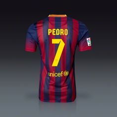 Nike Pedro Rodriguez Barcelona Authentic Home Jersey 13/14