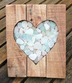 SEA GLASS HEART PICTURE