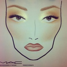 perfect face chart <3