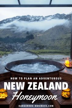 Thinking about planning a honeymoon to New Zealand? Here are some tips for how to mix both romance and adventure. Here's your New Zealand honeymoon bucket list: everything from wine tasting to to bungee jumping to soaking in thermal pools included! Best Honeymoon, Romantic Honeymoon, Honeymoon Destinations, Honeymoon Trip, Honeymoon Ideas, Honeymoon Spots, Honeymoon In New Zealand, New Zealand Travel, Bungee Jumping