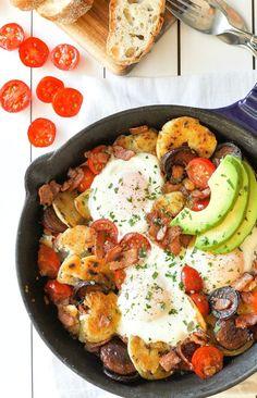 CHORIZO AND BACON SMASHED POTATO BREAKFAST HASH http://recipes-only.com/chorizo-and-bacon-smashed-potato-breakfast-hash/