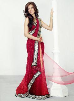 Christmas Party Sari Fashion 2013 & 14 For Girls & Womens (10 ...