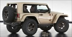2013 Moab Edition: Jeep Wrangler Flattop. Underneath is a Mopar cold-air intake and exhaust kit, aluminum five-spoke wheels that carry 37-inch Mickey Thompson off-road tires, DynaTrac Pro Rock 44 front and Dana 60 rear axles with ARB air lockers and TeraFlex sway bars, and Full-Traction control arms, bolted to King shocks with pneumatic bump stops.