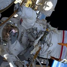 nasa Second spacewalk of 2017 successfully complete! Station (@ISS) Commander Shane Kimbrough (@astro_kimbrough) and @europeanspaceagency astronaut Thomas Pesquet (@thom_astro) concluded their spacewalk at 12:20 p.m. EST today. During the nearly six hour spacewalk, the two astronauts successfully installed three new adapter plates and hooked up electrical connections for three of the six new lithium-ion batteries on the International Space Station. This image was posted by Shane, who wrote…