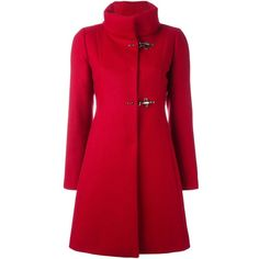 Fay high neck fitted coat ($817) ❤ liked on Polyvore featuring outerwear, coats, jackets, coats & jackets, red, high neck coat, fay coat, fitted coat and red coat