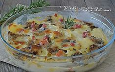 Ricette con le patate Archives - Vale cucina e fantasia Pancetta, Cheeseburger Chowder, Camembert Cheese, Potato Salad, Mashed Potatoes, Main Dishes, Veggies, Pizza, Soup