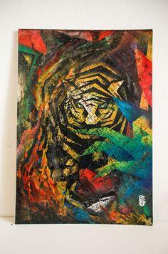 """""""Rising Tiger"""" Homage to Franz Marc #FLORE #Florecreated #MalerFlo #Künstler #Kunst #picture #artist #painter #Bild #Foto #Fotografie #Creative #kreativ #Kreativität #art #künstlerisch #Malerei #malen #zeichnen #paint #Bunt #colorful  #Maltechnik #Zeichnung #draw #Artwork #Drawing  #acrylic #canvas #acrylfarben #farben #farbe #franzmark #homage #cubism #tiger #thetiger #rise #riseup #evolve #enlighten #energy #ignite Franz Marc, Bunt, Paintings, Drawing, Flowers, Paint Techniques, Mural Painting, To Draw, Creative"""