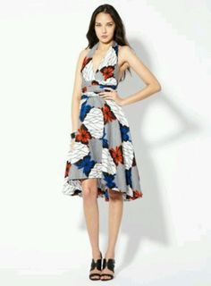 a1c0f720132 Halter Butterfly Dress by L. on Gilt -- love that she used a west african  fabric design