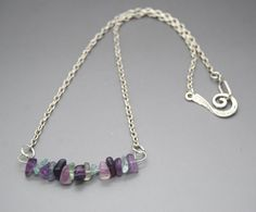 Fluorite Chip Focal Short Necklace by NecklaceNurse