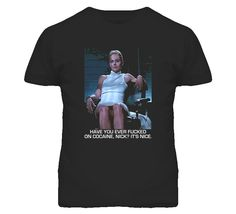Basic Instinct Interrogation Movie T Shirt is available on a Black Cotton Tee. The Basic Instinct Interrogation Movie T Shirt is available in all sizes which you can select from the shirt size drop down below Basic Instinct, Movie T Shirts, Cotton Tee, My Wardrobe, Mens Tops, Movies, Black, Fashion, Films