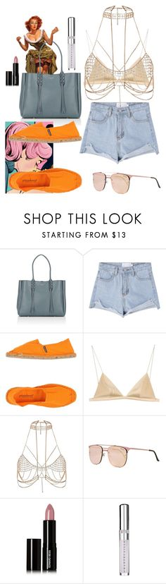 """""""🍸"""" by esintuncer ❤ liked on Polyvore featuring Lanvin, PrimaDonna, T By Alexander Wang, River Island, Quay, Edward Bess and Chantecaille"""