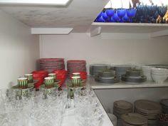 Organização de taças e xícaras