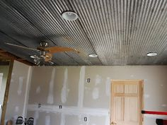 galvanized ceiling | have galvanized barn roof tin on my ceiling could you take it down ...