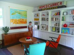 Another angle of this great retro cool vintage office