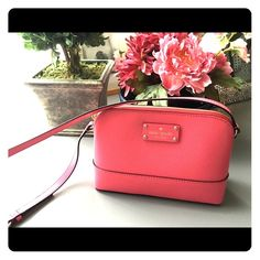 Kate spade purse EUC Kate spade Wellesley Hanna  Peony Pink leather Cross Body Bag. kate spade Bags Crossbody Bags