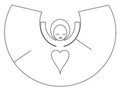 Сделать ангела из бумаги своими руками шаблоны