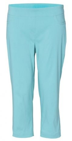 "If you're in the market for some new outfits, consider our women's apparel! Shop this comfortable and stylish Aqua SPECIAL SlimSation Ladies 21"" Inseam Pull On Golf Capri from Lori's Golf Shoppe."