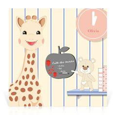 Faire-part naissance Sophie la girafe Pense bête… - Cardissime - Attention, on n'oublie rien. Après couches, biberons… c'est le faire-part indispensable pour annoncer la naissance de votre bébé.