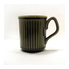 Vintage James Sadler Mug - Mid-Century Coffee Mug - Sadler Pottery - Mod Motif - Collectable Pottery - Olive Green - Made in England