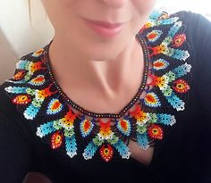 Free Shipping  Beadwork Colors Dance Necklace by SERMINCEJEWELRY