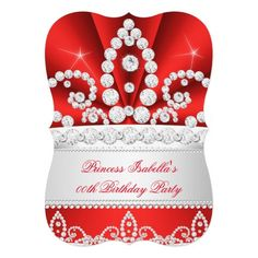 Princess Red Diamond Tiara Birthday Party