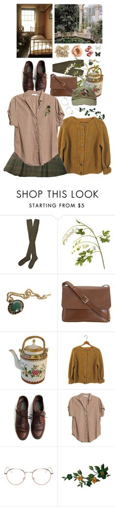 """botanist"" by paper-freckles ❤ liked on Polyvore featuring Hansel from Basel, OKA, Roberto Cavalli, Valextra, Xirena and RetroSuperFuture"