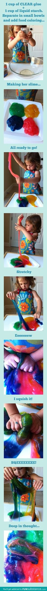 A Fun Weekend Activity for Any Kid.  How to Make Your Very Own Slime