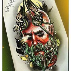Skull Tattoo Design, Tattoo Design Drawings, Tattoo Sketches, Tattoo Designs, Canvas Wall Art Quotes, Desenhos Old School, Neo Tattoo, Barber Tattoo, Christ Tattoo