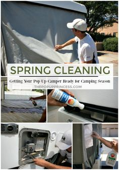 Cleaning Our Pop Up Camper, Part One: The Exterior Get your pop up camper in top shape for camping season by tackling these essential maintenance tasks.Get your pop up camper in top shape for camping season by tackling these essential maintenance tasks. Tent Trailer Camping, Pop Up Tent Trailer, Tent Campers, Camping Car, Camping Ideas, Family Camping, Camping Checklist, Tent Trailers, Camping Essentials
