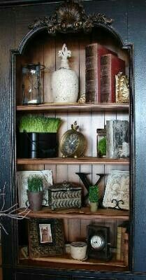 Feel Like Working With Perfect Home Office Furniture Styling Bookshelves, Decorating Bookshelves, Bookcases, Tuscany Decor, World Decor, Tuscan Decorating, Decorating Ideas, Mediterranean Decor, Home Office Furniture