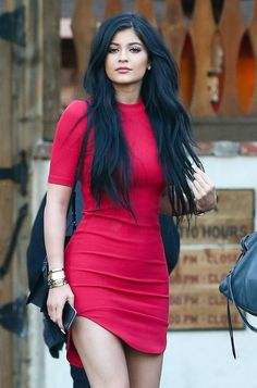 Kylie Jenner street style | Little red dress