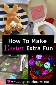 Are you looking for Extra Fun Tips and Ideas for planning Easter? Inspireandmake.com has a lot of great ideas to make Easter extra special for toddlers, kids, teens, and adults.