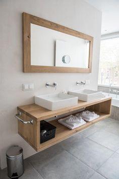 Łazienka na górze Bathroom Design Small, Modern Bathroom, Master Bathroom, Bathroom Ideas, Bathroom Organization, Upstairs Bathrooms, Bathroom Countertops, Vanity, Home Decor