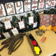 Australian Aboriginal Display and Activity Bundle NAIDOC Aboriginal Art For Kids, Aboriginal Symbols, Aboriginal Education, Indigenous Education, Aboriginal History, Aboriginal Culture, Childcare Rooms, Childcare Activities, Infant Activities