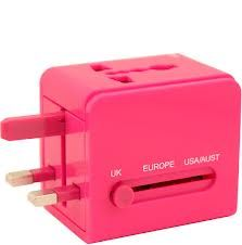 Pink Adaptor #Travel #accessories