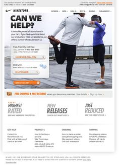 Nike welcome email design